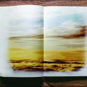 A book with scenery on its pages