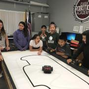 Students race robot