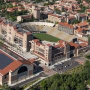 Aerial view of Folsom Field