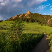 A view of the Flatirons from Chautauqua (Photo by Glenn Asakawa/University of Colorado)