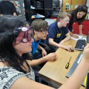 Students engaged in learning