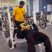 Chip works with a personal trainer
