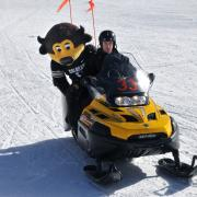 Chip on snowmobile