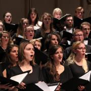 CU choirs sing during concert