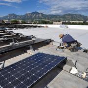 Solar panels on the CU Boulder campus