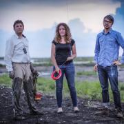 "Scott Eustis (left), Shannon Dosemagen and Jeff Warren were part of the Public Lab response to the ""Deepwater Horizon"" disaster, using low-cost cameras, kites and balloons to document the BP oil spill."
