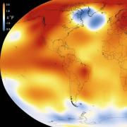 Map depicting Earth's climate change