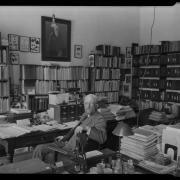 Theo Cockrell sits in his office