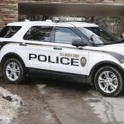 A CU Police Department vehicle on CU Boulder's campus.