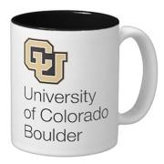 Coffee cup with University of Colorado Boulder
