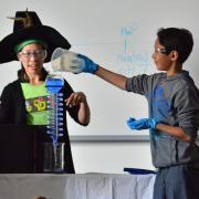 Angevine Middle School students in science workshop at CU Boulder