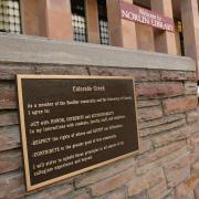 Photo of Colorado Creed plaque.