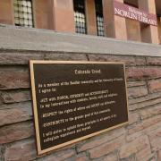 A plaque showing the Colorado Creed.