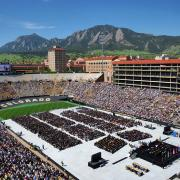 Folsom Field during spring 2018 commencement