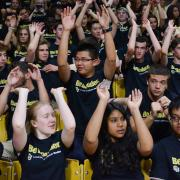 Students celebrate at the 2015 Convocation