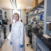 Researcher Corrie Detweiller in the lab