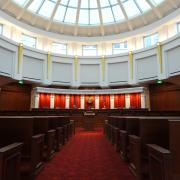 Interior of empty Colorado Supreme Court