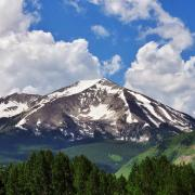 Snow-capped mountains near Crested Butte