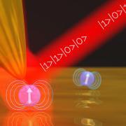 Artist's impression of quantum cooled particles