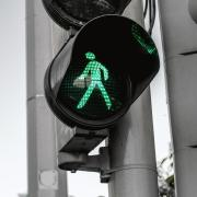 Crosswalk signal at traffic light