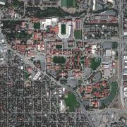 CU Boulder taken by DigitalGlobe's GeoEye-1 satellite