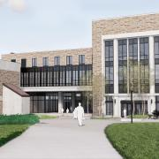 Rendering of business-engineering building expansion