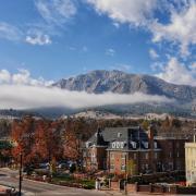 CU Boulder campus on Halloween 2017