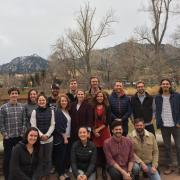 The Colorado River law class poses for a group photo