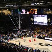 CU men's basketball team plays at the Coors Events Center