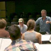 """In 2016, Jake Heggie and Gene Scheer workshopped """"It's a Wonderful Life"""" with CU student singers before its premiere that fall at Houston Grand Opera."""