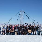 The CU Sounding Rocket Lab team at a launch in November 2019