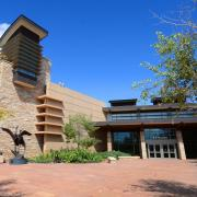The entrance to the Liniger Building at CU South Denver.
