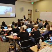 Classroom at CU South Denver