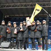 CU Women on the podium at the NCAA Cross Country Championships
