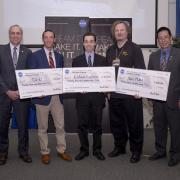 Aerospace master's student Ben Fried with the other winners