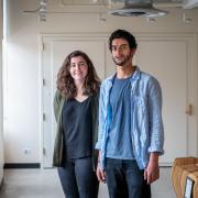 Environmental design students Marie Obermeier and Dean Behary