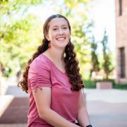 Joelle Westcott on campus