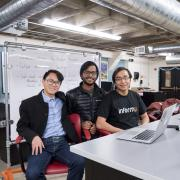 CU Boulder students and founders of informu at the Idea Forge in Boulder