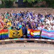 CU community forms a human rainbow