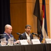 Panelists speak at previous Conference on World Affairs