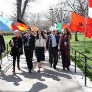 The 2018 Conference on World Affairs opening procession.