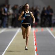 Colorado's Dani Jones competing in a track and field meet