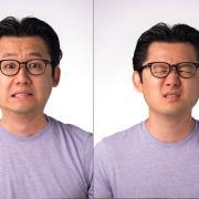 Daniel Lee making faces