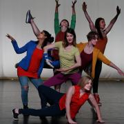 CU Contemporary Dance Works rehearsing for the dance tour in Paonia