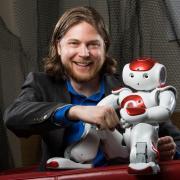 Computer scientist and professor Dan Szafir with robot