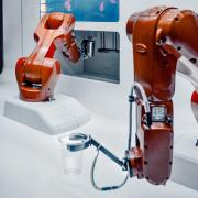 Robots pouring drinks