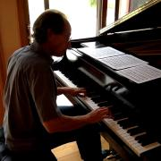 David Korevaar at his home piano