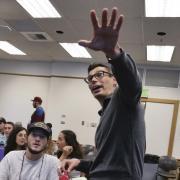 David Shneer teaching a class at CU Boulder