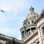 The Colorado capitol building.