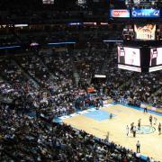 Denver Nuggets home basketball game at the Pepsi Center